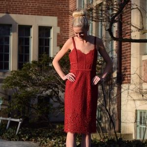 Express Dresses - Red Lace Formal Dress from Express - NWOT